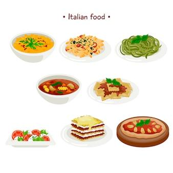 Colección de comida italiana