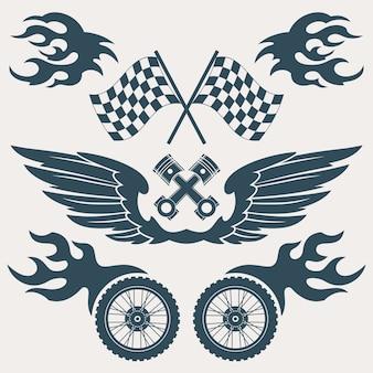 Colección de diseños de carreras