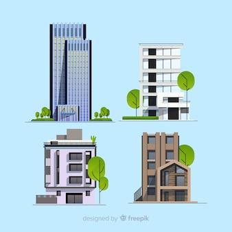 Colección de edificios de oficina