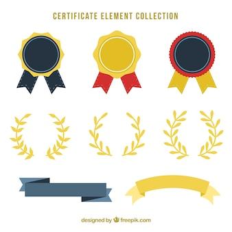 Colección de elementos de certificado