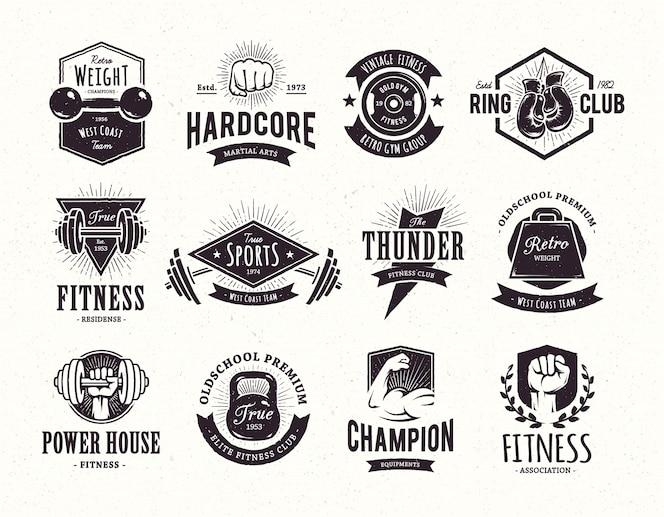 Colección de emblemas retro