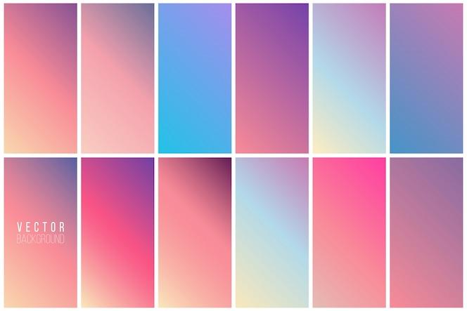 Colección de fondo colorido abstracto