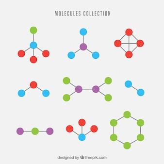 Colección de formas geométricas de moléculas