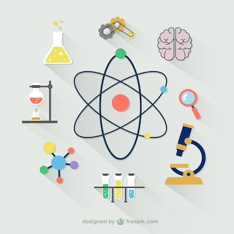 Colección de iconos científicos