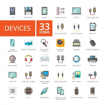 Colección de iconos de aparatos electrónicos