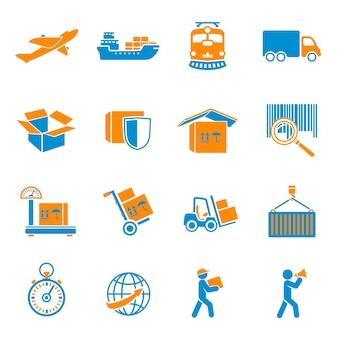Colección de iconos de paquetería