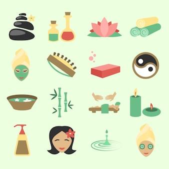 Colección de iconos de spa