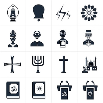 Colección de iconos religiosos