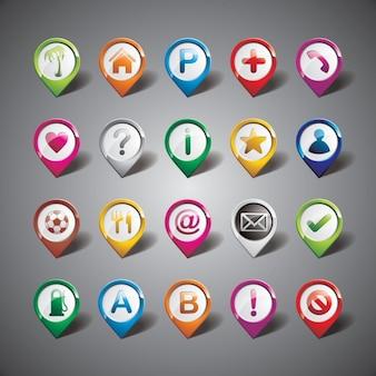Colección de indicadores a color