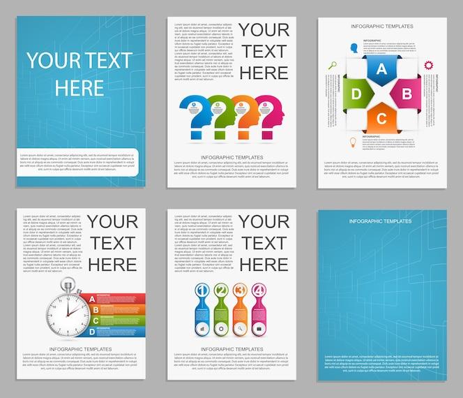 Colección de infografías para presentaciones.
