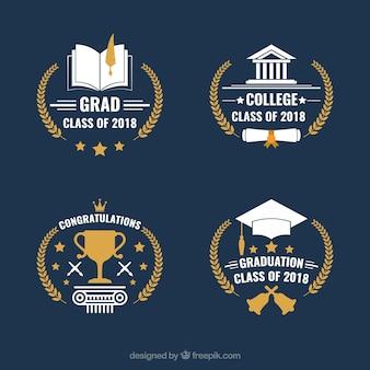 Colección de insignias de graduación