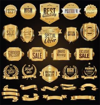 Colección de insignias vintage retro