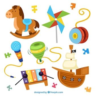 Colección de juguetes coloridos