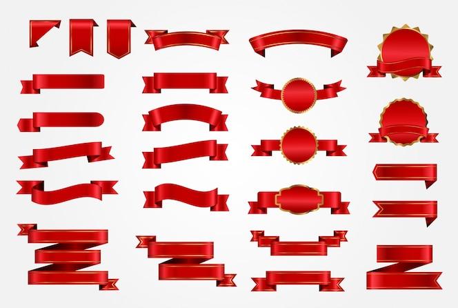 Colección de lazos rojos