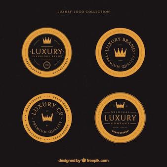 Colección de logos con estilo vintage y de lujo