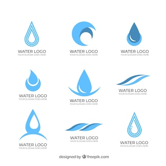 Colección de logos de agua para compañías