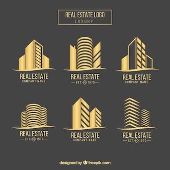 Colección de logos de inmobiliaria