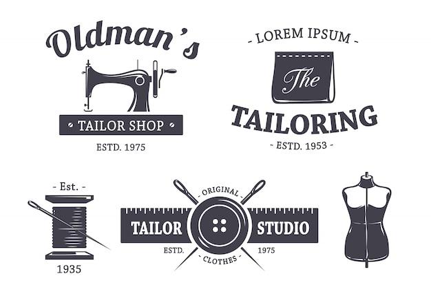 Colección de logotipo de sastrería