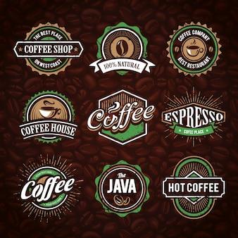 Colección de logotipos de café