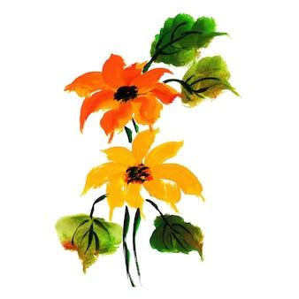 Colección de logotipos florales de acuarela