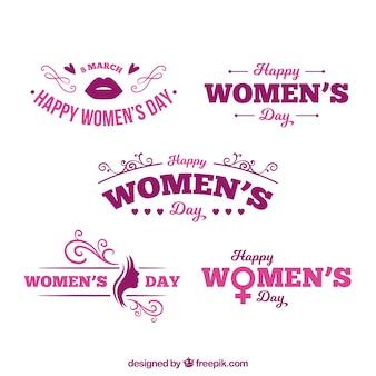 Colección de logotipos para el día de mujeres