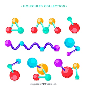 Colección de moléculas coloridas