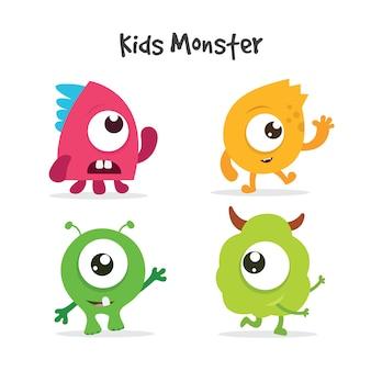 Colección de monstruos infantiles