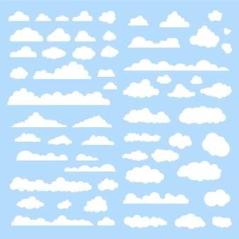 Colección de nubes blancas