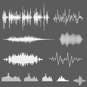 Colección de ondas de sonido