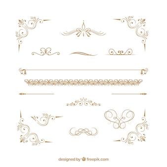 Colección de ornamentos de certificado