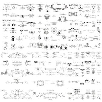 Colección de ornamentos decorativos