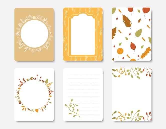 Colección de otoño y otra plantilla de flyer de tipografía