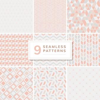 Colección de patrones de ilustración vectorial