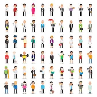 Colección de personajes de negocios
