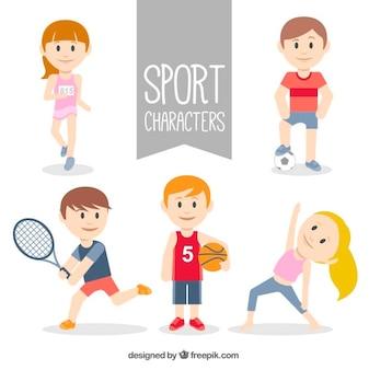 Colección de personajes deportistas