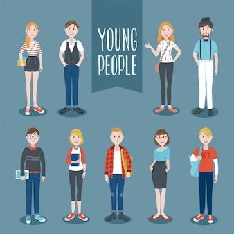 Colección de personas jóvenes