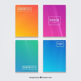 Colección de plantillas de cover moderno