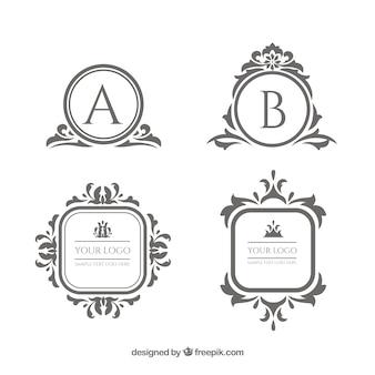Colección de plantillas de logos vintage y lujosos