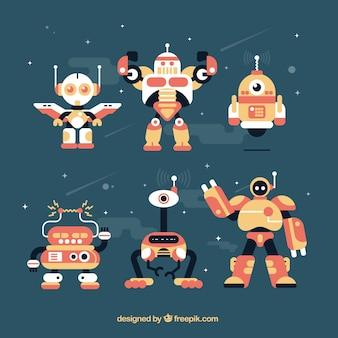 Colección de robots planos