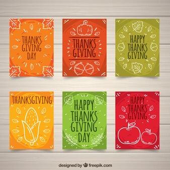 Colección de tarjetas de acción de gracias
