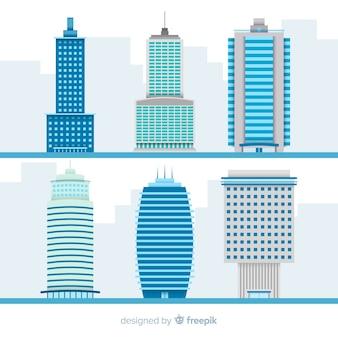 Colección de varios edificios de oficina