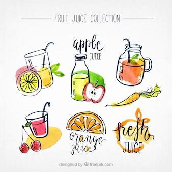Colección de zumos de fruta