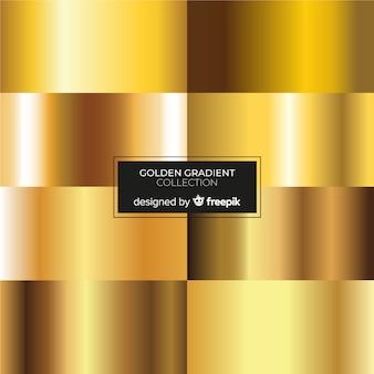Colección degradado dorado vector gratuito