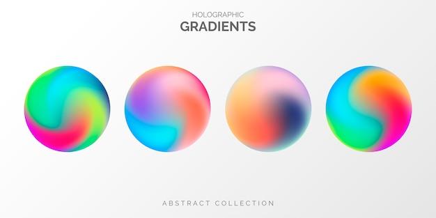 Colección de degradado holográfico moderno