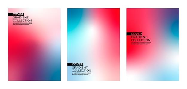 Colección de degradado de portada colorida