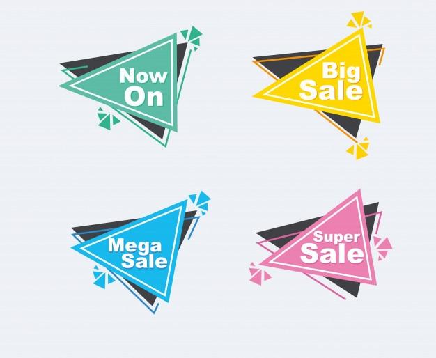 Colección de descuento de venta estilo banners.