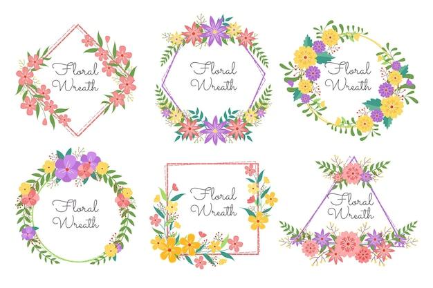 Colección detallada de coronas florales