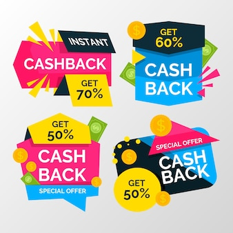 Colección de devolución de efectivo con descuento