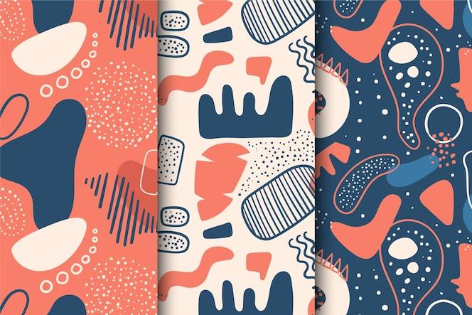 Colección dibujada a mano abstracta del patrón