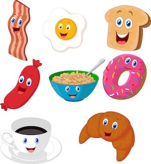 Colección de dibujos animados de desayuno